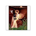 Angel (#1) & Schipperke Square Sticker 3