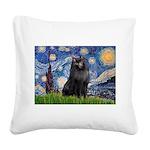 Starry / Schipperke #2 Square Canvas Pillow