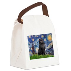 Starry / Schipperke #2 Canvas Lunch Bag