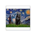 Starry / Schipperke #5 Square Sticker 3