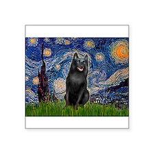 "Starry / Schipperke #5 Square Sticker 3"" x 3"""