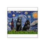 Starry / Schipperke Pair Square Sticker 3
