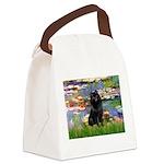Lilies (2) & Schipperke Canvas Lunch Bag