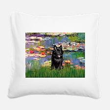 Lilies / Schipperke #4 Square Canvas Pillow