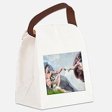 Creation / Schnauzer (#8) Canvas Lunch Bag