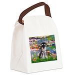 Lilies (#2)/Schnauzer Pup Canvas Lunch Bag
