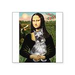 Mona Lisa's Schnauzer (#1) Square Sticker 3