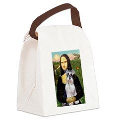 Mona Lisa/Schnauzer (#2) Canvas Lunch Bag