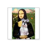 Mona Lisa/Schnauzer (#2) Square Sticker 3