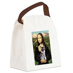 Mona Lisa's Schnauzer Puppy Canvas Lunch Bag
