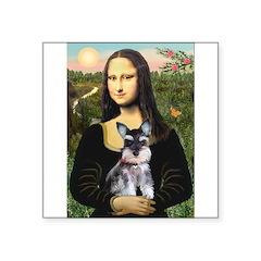 Mona Lisa's Schnauzer Puppy Square Sticker 3