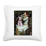 Ophelia's Schnauzer Square Canvas Pillow