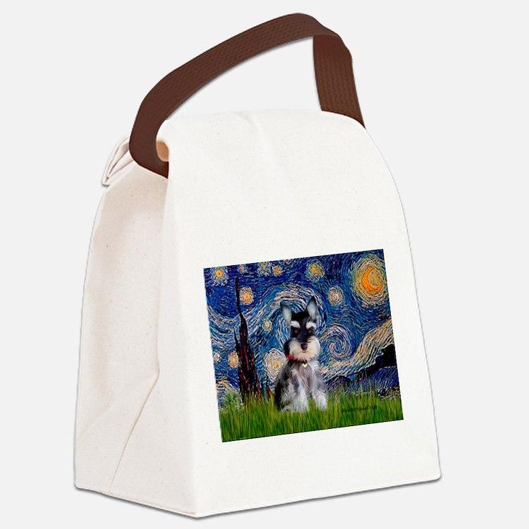 Starry / Schnauzer Canvas Lunch Bag