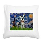 Starry Night /Schnauzer(#8) Square Canvas Pillow