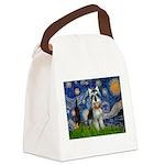 Starry Night /Schnauzer(#8) Canvas Lunch Bag