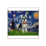 Starry Night /Schnauzer(#8) Square Sticker 3
