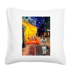 Cafe / Schnauzer (#8) Square Canvas Pillow