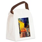 Cafe / Schnauzer (#8) Canvas Lunch Bag