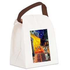 Cafe / Schnauzer (#8) Canvas Lunch Bag