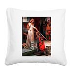 Accolade / Schnauzer (#8) Square Canvas Pillow