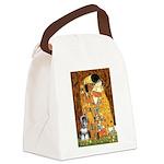 Kiss / Schnauzer (#7) Canvas Lunch Bag