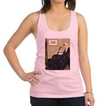 Whistler's Mother /Schnauzer Racerback Tank Top