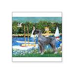 PS G. Schnauzer & Sailboats Square Sticker 3
