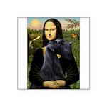 Mona Lisa /giant black Schnau Square Sticker 3