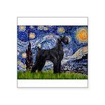 Starry Night / Schnauzer Square Sticker 3
