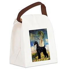 Umbrella/Giant Schnauzer (black) Canvas Lunch Bag