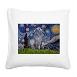 Starry /Scot Deerhound Square Canvas Pillow