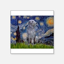"Starry /Scot Deerhound Square Sticker 3"" x 3"""