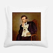 Lincoln / Scottie (w) Square Canvas Pillow