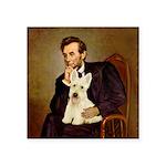 Lincoln / Scottie (w) Square Sticker 3