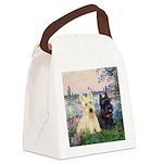 Seine / Scotties (b&w) Canvas Lunch Bag