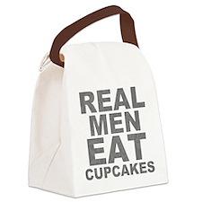 RealMenEatCupcakes.png Canvas Lunch Bag