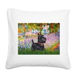 Garden (Monet) - Scotty Square Canvas Pillow