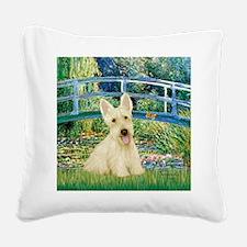 Bridge / Scottie (w) Square Canvas Pillow