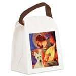 Mandolin / Scottie (w) Canvas Lunch Bag