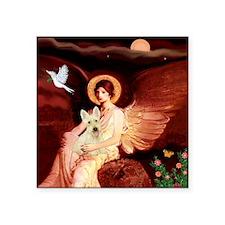 "Angel / Scottie (w) Square Sticker 3"" x 3"""