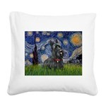 StarryNight-Scotty#1 Square Canvas Pillow