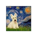 Starry Night / Scottie (w) Square Sticker 3