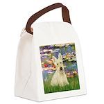 Lilies / Scottie (w) Canvas Lunch Bag