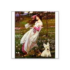 "Windflowers / Scottie (w) Square Sticker 3"" x 3"""