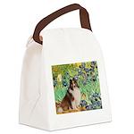 Irises / Sheltie Canvas Lunch Bag