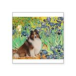 Irises / Sheltie Square Sticker 3
