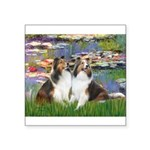 Lilies #2 / Two Shelties Square Sticker 3