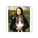 Mona Lisa's Sheltie (S) Square Sticker 3