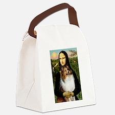 Mona's Sable Sheltie Canvas Lunch Bag