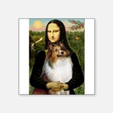 "Mona's Sable Sheltie Square Sticker 3"" x 3"""